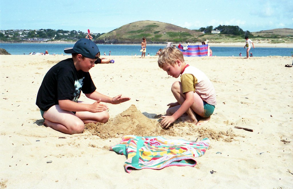 Jonny And Rig On The Sand At Padstow