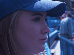 Watching the Game (cgwilfongphotos) Tags: ballgame stadium bluejays people fans bases ballpark diamond seats girl youngwoman