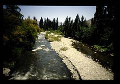 A River In Semi-arid Zone In Chile = 半乾燥地を流れる川