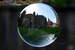 Fatamorgana: Erfurter Dom in Arnstadt (seyf\ART) Tags: arnstadt kugel town crystalball thüringen thuringia