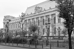 Bucharest in Black and White (virtualwayfarer) Tags: romania bucharest europe capital blackandwhite architecture downtown streetphotography design citystreets water riverside