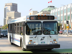 Winnipeg Transit #594 (vb5215's Transportation Gallery) Tags: winnipeg transit 2003 new flyer d40lf