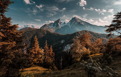 Watzmann (One_Penny) Tags: bayern deutschland germany koenigssee bavaria canon6d kingslake landscape nature outdoor photography watzmann trees mountains sky clouds hiking trekking travel berchtesgadenerland scenic view grünstein colors