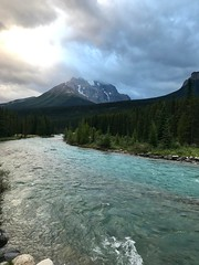 Bow River and Mount Temple (daveynin) Tags: banff canada mountain river cloudy
