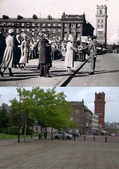 Hamilton Square, Birkenhead, 1950s and 2017 (Keithjones84) Tags: birkenhead wallasey merseyside wirral thenandnow rephotography newbrighton