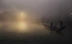 Venetian paths 41 (Maurizio51( nonno ter)) Tags: venice venezia lights fog gondola italy italia lagoon atmosphere