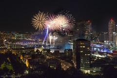 Fireworks Wereldhavendagen (Margriet Photography) Tags: euromast erasmusbrug rotterdam fireworks wereldhavendagen city 010 010bynight