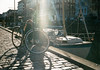 All Things Copenhagen (karstenphoto) Tags: g2 bicycle contax zeiss biogon analog film 35mm kodak ektar copenhagen københavn denmark danmark bike sun spring warmth canal love couples sunshine alaris