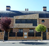 Haro. Terraced houses near El Mazo sports centre. (Allan Rostron) Tags: haro spain terracedhouses
