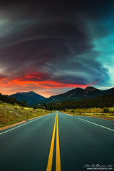 Prophetic Memories (rosacruzjl) Tags: autumn colorado estespark fall rockymountainnationalpark atmosphere beautiful cloud color colorful forest landscape lenticular longexposure mountain nature outdoors panoramic peak pine pretty road romance romantic scenery scenic skycloud sunrise travel tree weather