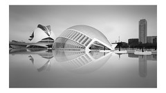 City of Arts and Sciences (vulture labs) Tags: valencia workshop long exposure calatrava architecture cityofartsandsciences spain bw fine art photography city sciences