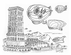 Bologna (rod1691) Tags: bw scifi grey concept custom car retro space hotrod drawing pencil h2 hb original story fantasy funny tale automotive art illistration greyscale moonpies sketch