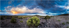 Desert sunset panorama (ronnymariano) Tags: 2017 landscape desert nature sky sunset weather outdoors clouds tonopah nevada unitedstates us