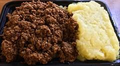 paleo bobotie at Amawele's South African Kitchen (Fuzzy Traveler) Tags: groundbeef mashedpotatoes beef potatoes broccoli vegetables carrots cauliflower squash bobotie paleo food lunch sanfrancisco amaweles southafricancuisine amawelessouthafricankitchen restaurant