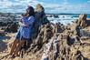 The lonely mermaid (Sagnik D) Tags: outdoor seascape landscape d3200 rocks sea atlantic la pedrera uruguay 1855
