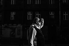 Man vs Sun 12.365 (ewitsoe) Tags: man sun 365 silhouette shade cover eye streeturbancityscapenikond8035mmstreeturbanmonomonochromeblackandwhite 12 standing architectue street urban city ewitsoe nikon d80 35mm stress waiting work walking sunshine bright