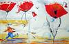 Coquelicots (Club des artistes) Tags: clubdesartistes ensisheim huile peinture coquelicot coquelicots composition
