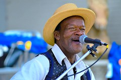Pat Thomas -- Living Embodiment of the Original Rural Blues (re-edited) (forestforthetress) Tags: patthomas blues bluesmusic jukejointfestival clarksdale mississippi omot nikon outdoor festival color gig concert stage music musician man face people portrait