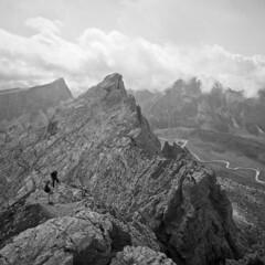 From Nuvolau - Dolomites - august 2017 (cava961) Tags: nuvolau dolomites monochrome monocromo analogue analogico bianconero bw