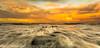 Feel The Rush (Steven Peachey) Tags: seascape sunset sea sky clouds evening beach coast tide lowtide rocks seaham seahamchemicalbeach seahamwheels durhamheritagecoast northeastengland northeastcoast ef1740mmf4l 5dmarkiv canon5dmarkiv leefilters formatthitech lee09gnd graduatedndfilter stevenpeachey lightroom light countydurham colours rush movement backwash