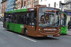 NCT AD Enviro 200 390 YX63GXU - Nottingham (dwb transport photos) Tags: nct nottinghamcitytransport alexander dennis enviro bus brownline 390 yx63gxu nottingham