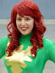 Phoenix (J Wells S) Tags: prettyyoungwoman redhead smile costume cosplay dressup cincinnaticomicexpo dukeenergycenter cincinnati ohio comicon phoenix xmen