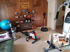 25Sep17 We finally finished the 'Move chairs to the back bedroom part of rearranging our gym. There's a ton more space now. #latergram #2017pad #photoaday #picaday #homegymlife