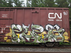 Purg (Railroad Rat) Tags: graffiti british columbia canada moniker street art nature forest