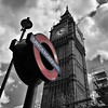 (40emem) Tags: time transportation transport structure old city urban sign red selective blackandwhite bnw road streetphotography streetphoto photography photo street underground day sky clouds clocktower tower clock england london june 2017 flickr great britain greatbritain unitedkingdom uk bigben ben big