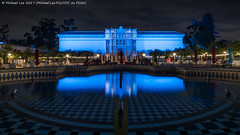 Plaza de Panama and Museum of Art (20170726-DSC08110) (Michael.Lee.Pics.NYC) Tags: sandiego balboapark plazadepanama fountain museumofart architecture night longexposure reflection symmetry tiles mosaic park museum sony a7rm2 zeissloxia21mmf28