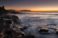 Swirls and falls (Rod Burgess) Tags: durraspoint nsw southdurras sunrise waves australia canon1635f4l canoneos5dmarkiv longexposure dawn milkywater