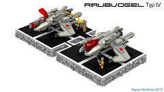 Raubvogel Typ IV (CK-MCMLXXXI) Tags: lego moc starfighter interceptor raubvogel schwarm ldd digital render povray