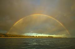 Archway (Matt Champlin) Tags: hawaii kauai tropical paradise amazing life nature ocean sea boat boating pacific island islands rainbow fullrainbow arch archway peace peaceful canon 2017 travel summer