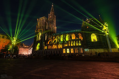 Illuminations Cathédrale (steinmetznicolas) Tags: 2017 alsace aout nuit strasbourg cathédrale france night nightphotography landscape lumières nikon d610 1635