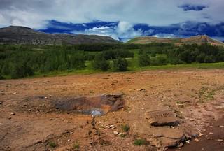 Republic of Iceland ~ Litli Geysir ~ Steam Eruption ~ Landmannalaugar Hiking Route