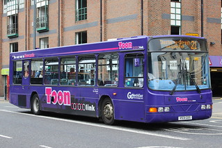 GO NORTH EAST 5145 V531GDS IS SEEN IN NEWCASTLE ON 21 JUNE 2014