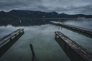 Triple Plank at lake Kochelsee