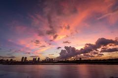 天鴿颱風來臨前夕陽 - Sunset before typhoon (basaza) Tags: canon 760d sunset 綠寶石河濱公園
