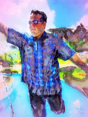 Alma Mater (flynryon) Tags: flynryon texture canvas flickr fingerpaintedit iamda paintbookca mobile art scumble mike ryon ipainter landscapes portraits figures mashablecom iphone digital paintings kansas ipainting ku