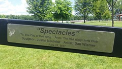 Spectacles (Michel Curi) Tags: minnesota mn travel redwing redwingmn myredwing park covillepark spectacles sculpture escultura sign onlyinmn myminnesota exploremn capturemn exploreminnesota