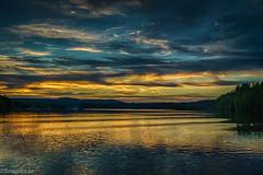 Pengfors från vattnet (johan.bergenstrahle) Tags: 2017 finepics umeälv august augusti evening hdr kväll landscape landskap natur river solnedgång sommar summer sunset sverige sweden umeriver vännäs älv