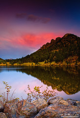 Autumn's Ascent (rosacruzjl) Tags: autumn colorado estespark fall lilylake rockymountainnationalpark atmosphere beautiful blue color colorful forest landscape longexposure mountain nature outdoors panoramic peak pine pink pretty romance romantic scenery scenic tree waterscape weather