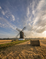 After the harvest (grbush) Tags: pitstone pitstonewindmill windmill postmill countryside rural farm farming field wheat harvest buckinghamshire morning sky clouds goldenhour sonya7 tokinaatx116prodxaf1116mmf28