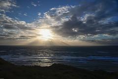 A beaming closure (Rind Photo) Tags: sunset beams denmark hirtshals seascape coast seashore light skies himmel beautiful atmosphere nikkor nikondf rindphoto clauschristoffersen