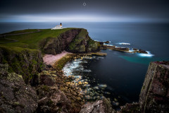 Clifftop Beacon (Augmented Reality Images (Getty Contributor)) Tags: bigstopper cliffs clouds coastline landscape leefilters lighthouse longexposure rocks scotland seascape stoer sutherland water waves