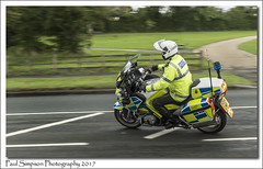Lancashire Police Bike (Paul Simpson Photography) Tags: lancashirepolice bike policebike lancashireconstabulary copper cops police policing escort outrider bmw scunthorpe tourofbritain stage3 stagethree motorbike cyclerace kingsway northlincolnshire northlincs photoof photosof imagesof imageof fast panning sonya77 sonyphotography