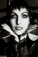 Hela Eyes... (Ring of Fire Hot Sauce 1) Tags: cosplay hela thorragnarok sylviaslays portrait blackwhite monochrome glamour sandiegocomiccon sdcc