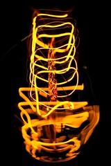 88 mph (Ren-s) Tags: olympus m1442mm f3556 abstrait abstract light red rouge yellow jaune orange fil thread wire cable incandescent redhot whitehot glowing brillant briller dark sombre noir black filament bulb ampoule lumière electricity électricité belgique belgium brussels bruxelles europe minimalism minimalisme labyrinthe maze labyrinth tunnel vortex