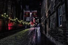 Castle esplanade, Edinburgh (xDigital-Dreamsx) Tags: city citynight night nightsky scotland scenery cobbles street lights edinburgh royal castle scottish scenic road tourist lothian old town festival
