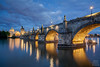 Charles bridge (ladislavzemanek) Tags: praha prague karlův most charles bridge czech water river architecture blue evening
